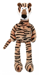 Tiger Plysch m.skrammel & pip 48 cm