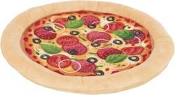 Pizza, plysch, ø 26 cm
