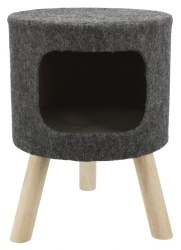 Senta kattgrotta på ben, filt, ø 38 × 50 cm, antracit