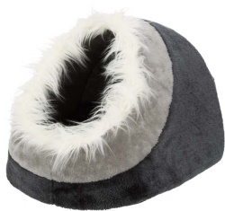 Minou igloo, 35 × h26 × 41 cm, mörkgrå/ljusgrå
