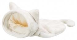 Nelli kattbädd/påse, 34 × 23 × 55 cm, vit-taupe