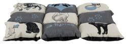 Lapptäcke Cat, 55 × 45 cm, grå/ljusblå