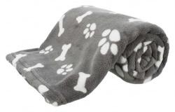 Kenny filt, plysch, 100 × 75 cm, grå