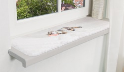 Nani fönsterdyna, nonslip, 90 × 28 cm, grå