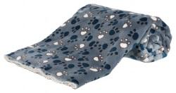 Tammy filt, 100 × 70 cm, blå/beige