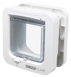 SureFlap kattdörr m microchip id, 21 × 21 cm, vit