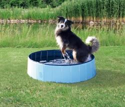 Hundpool, ø 80 × 20 cm, lj.blå/blå