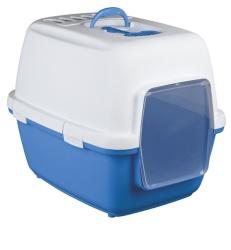 Kattlåda Xavi 45 × 48 × 58 cm, blå/vit