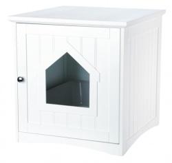 Toaletthus för kattlåda, MDF, 49 × 51 × 51 cm, vit