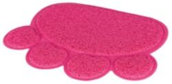 Kattlådematta, tass, PVC, 40 × 30 cm, rosa