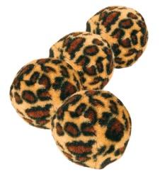 Kattleksak Leopardboll 4-pack 3,5 cm