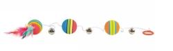 Regnbågsbollar bjällror på gummiband