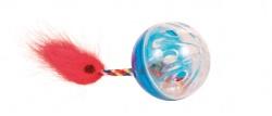 Kattleksak Plastboll med svans 2-pack 4,5 cm