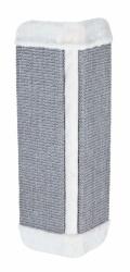 Klösbräda hörn m plyschkant 60x32 cm lj.grå