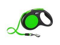 Flexi koppel new Neon M 5m grön