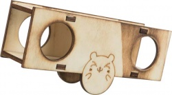 Gungbräda, hamster/mus, trä/flamberad, 5 × 7.5 × 17 cm