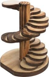 Spiraltrappa, hamster/mus, trä/flamberad, 10 × 12 × 9 cm
