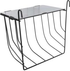 Höhäck, hängande, med lock, metall, 20 × 18 × 12 cm, svart