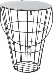 Höhäck, hängande, med lock, metall, 21 cm