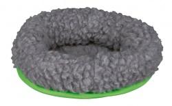 Hamsterbädd, Lammimitation 16,5x15,5 cm grå/grön
