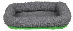 Gnagarbädd, Lammimitation 29x24 cm grå/grön