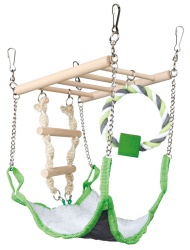 Hamster-lekstege m hammock 17x22x15 cm