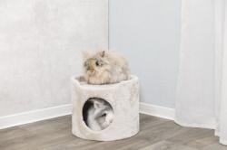 Plyschtorn för kanin/marsvin,ø 34 × 30 cm, beige