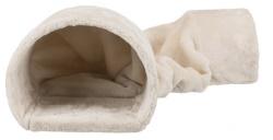 Plyschtunnel för kanin/marsvin,27 × 21 × 80 cm, beige