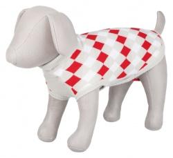 Pollino pullover, S: 40 cm, vit/grå/röd