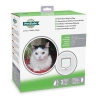 Kattdörr 4 vägs vit Petsafe manuell låsning