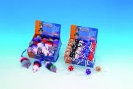 Kattleksak - spindelboll, mixade färger