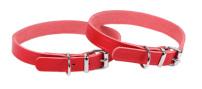Halsband Läder röd