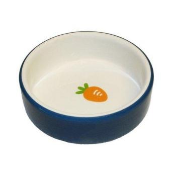 Keramikskål smådjur blå 8,5x8,5x3cm