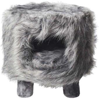 Klösmöbel Huebii S Fluffy grå 34x34x36cm
