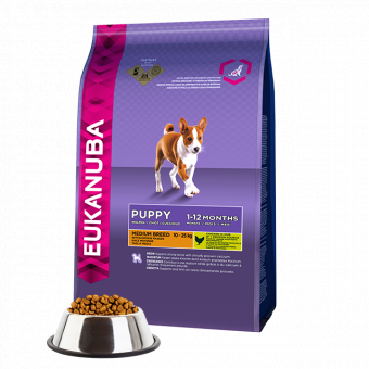 EUK DOG PUP & JR MEDIUM 15 KG