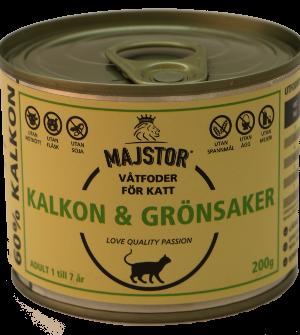 Majstor Kalkon & Grönsaker 200g Våtfoder