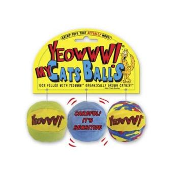 Yeowww Catnip bollar 3 p