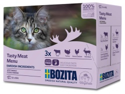 Bozita katt Kött i sås Multibox 12x85 g / 1.02kg