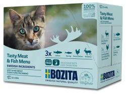 Bozita katt Kött&Fisk i sås Multibox 12x85 g / 1.02kg