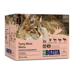 Bozita katt Kött i gelé Multibox 12x85 g