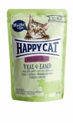 HappyCat våt, Adult, sterilised, kalv & lamm 85g