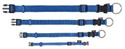 Premium halsband, S/M: 30-45 cm/15 mm, blå