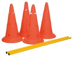 Dog Activity Hinderset 2 hinder, ø30×50cm, 100cm, orange & gul