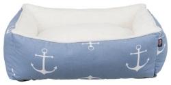 Anchor bädd, 80 × 65 cm, blå/vit