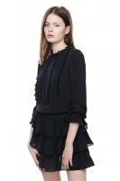 Elisa sidenklänning - Svart
