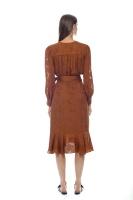 Lily omlottklänning brun
