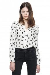 Mona blouse leaf print