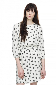 Edie sidenklänning - Print