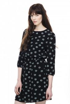 Edie mönstrad klänning