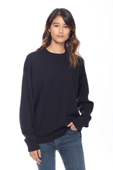 Jersey sweatshirt svart